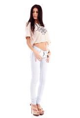 Hispanic lady, full length