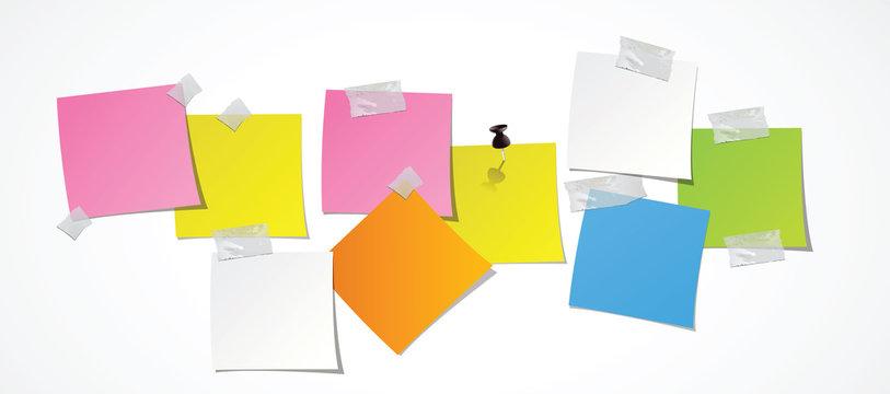 post-it de couleur vierges - pense-bête