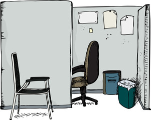 Office Cubicle with Chairs