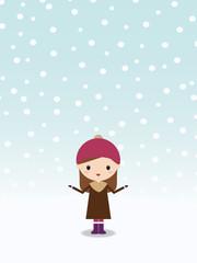 雪 女の子