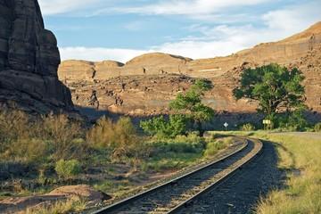 Wall Mural - Utah Railroad and Road