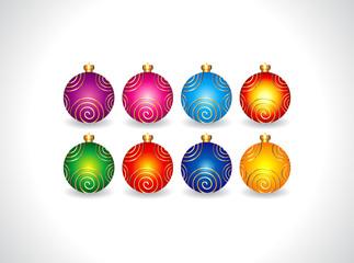 abstract christmas ball set