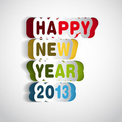 Happy new year 2013 paper strips