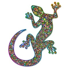 Door stickers Draw Gecko Geko Lizard Psychedelic Art Design-Geco Psichedelico