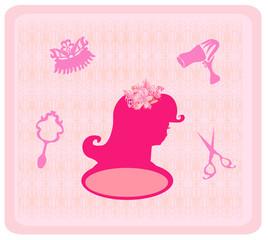 hairdressing salon icons