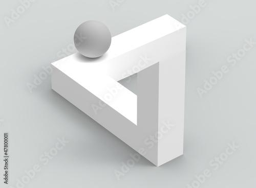 Figura geom trica imposible fotos de archivo e im genes - Figuras geometricas imposibles ...