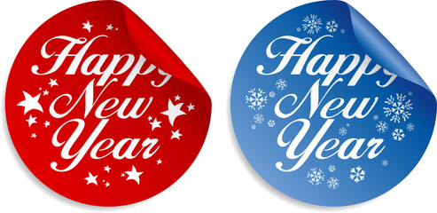 New Year stickers set