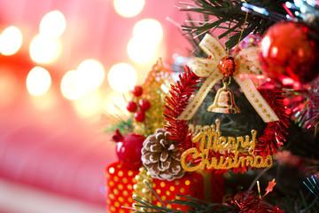 クリスマスツリーとイルミネーション