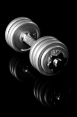 Grey dumbbell