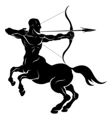 Stylised centaur archer illustration