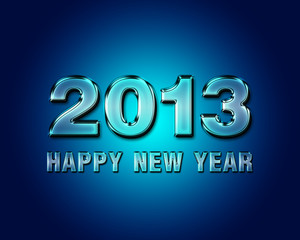 Blue New Year 2013 - glossy, vitreous