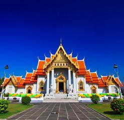 Photo sur Aluminium Lieu de culte Temple(Wat Benchamabophit) in bangkok thailand