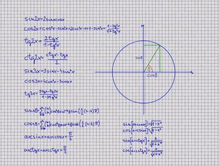 Mathematical Trigonometry Equations