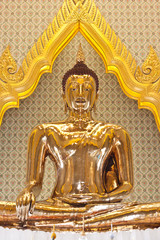 golden Buddha at wat trimit in Thailand