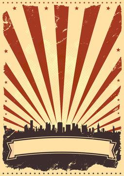 Fourth Of July Grunge American Leaflet
