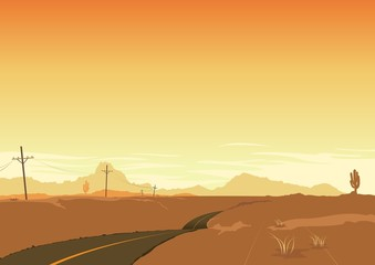 Desert Landscape Poster Background