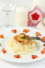 risotto with grilled scallops