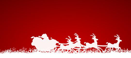 Rentier Schlitten mit Weihnachtsmann