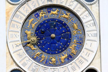 Horloge solaire, Place Saint-Marc à Venise - Italie