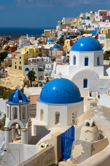 Fotomurales - Churches and houses of Oia