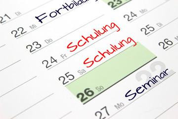 Fortbildungswoche Kalender