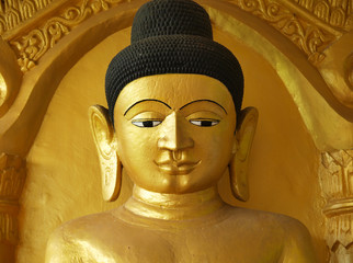 """Buddha, Shite-thaung Temple, Mrauk U, Rakhine, Burma (Myanmar)"""