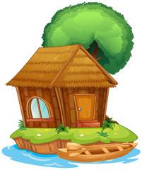 A house on an island