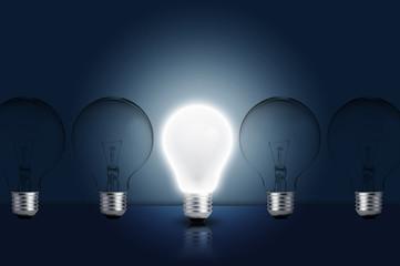 Light bulb turn on