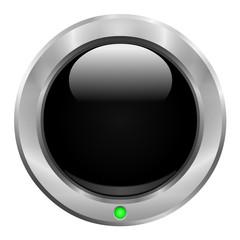 Bouton noir avec diode verte