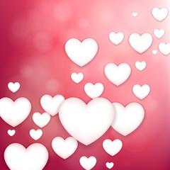 Fototapete - Pink heart background.