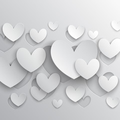 Valentine`s Day abstract background. Vector illustration.