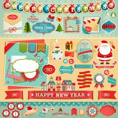 Wall Mural - Christmas Scrapbook set.