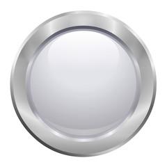 Bouton blanc avec contour métallique