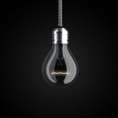 Glühbirne leuchtend