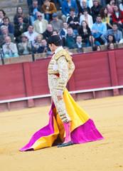 SEVILLA -MAY 20: Novilladas in Plaza de Toros de Sevilla. Novill