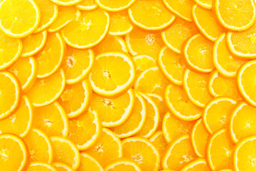 Photo sur Aluminium Tranches de fruits Orangen