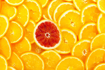 Canvas Prints Slices of fruit Orangen