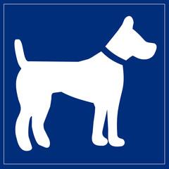 Papier Peint - Schild blau - Hundepension