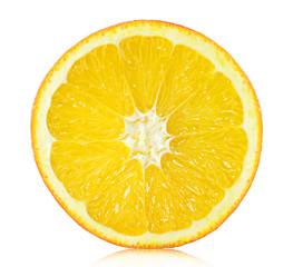 Round orange slice closeup