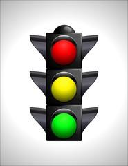 Semáforo rojo amarillo verde