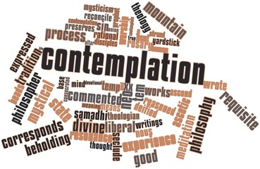 Word cloud for Contemplation