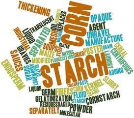 Word cloud for Corn starch