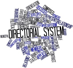 Word cloud for Directorial system
