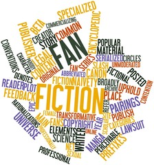 Word cloud for Fan fiction