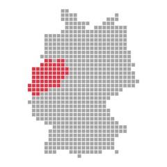 Nordrhein-Westfalen - Serie: Pixelkarte Bundesländer