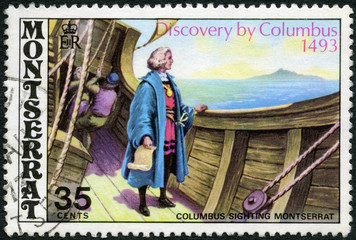 MONTSERRAT - 1973: shows Christopher Columbus