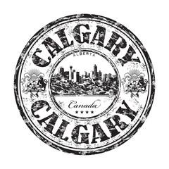 Calgary grunge rubber stamp