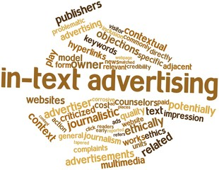 Word cloud for In-text advertising