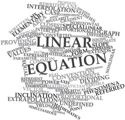 Word cloud for Linear equation