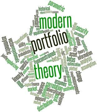 Word cloud for Modern portfolio theory